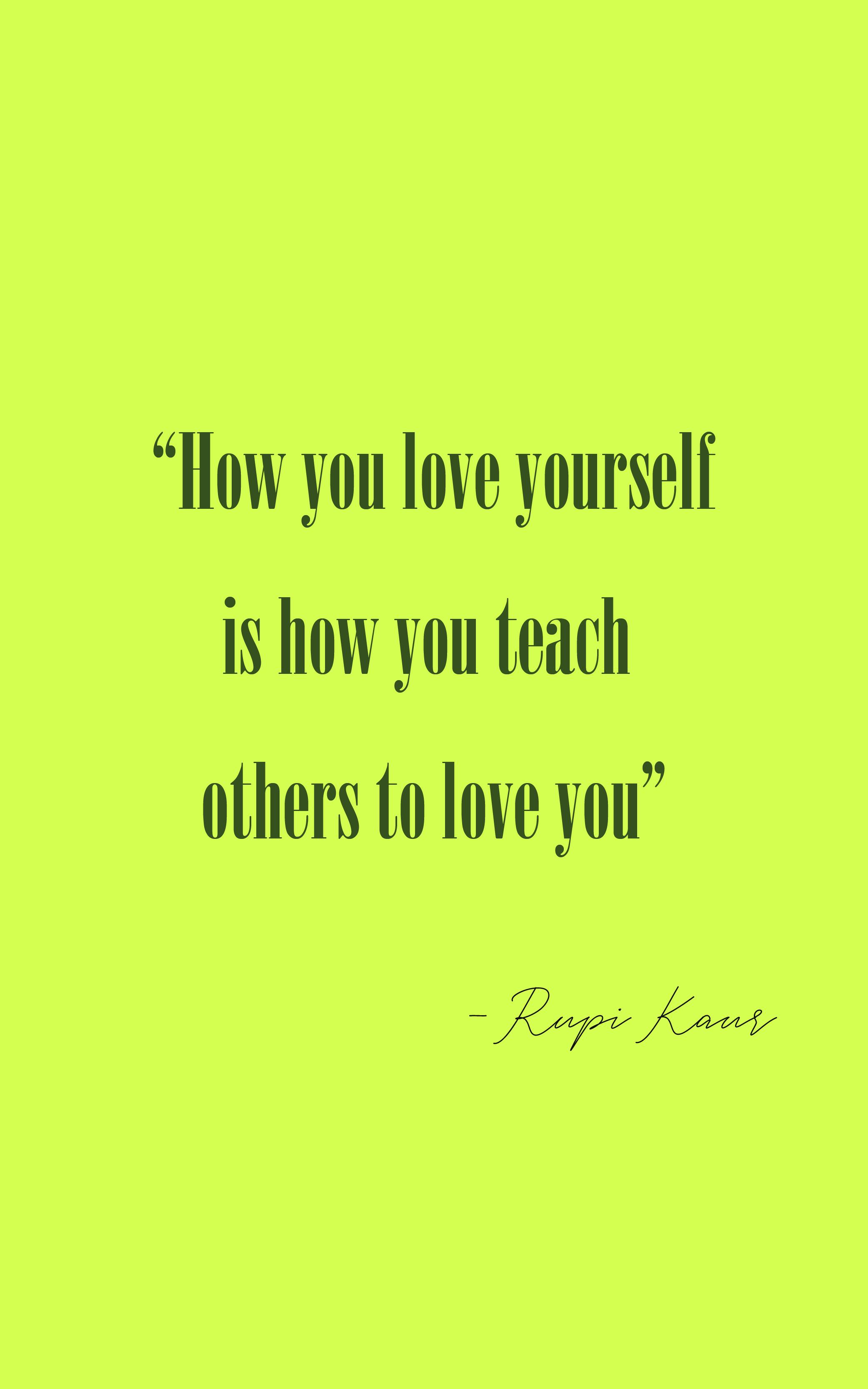 love yourself kochaj siebie cytaty motywacyjne grafiki