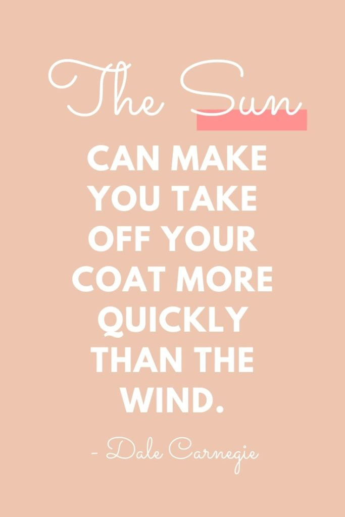 The Sun Can Make Dale Carnegie Quotes Friends