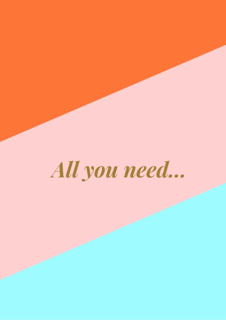 All You Need Is Love Graphic Frame