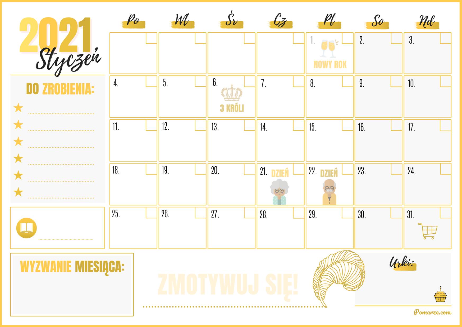 piękny miesięczny kalendarz maj 2020 pobierz do druku