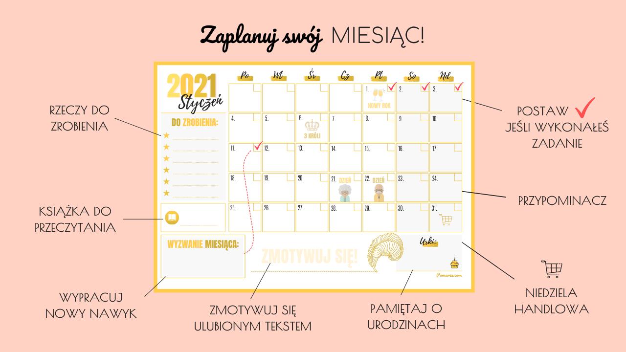 najpiękniejsze darmowe kalendarze maj 2020 do wydruku różowe