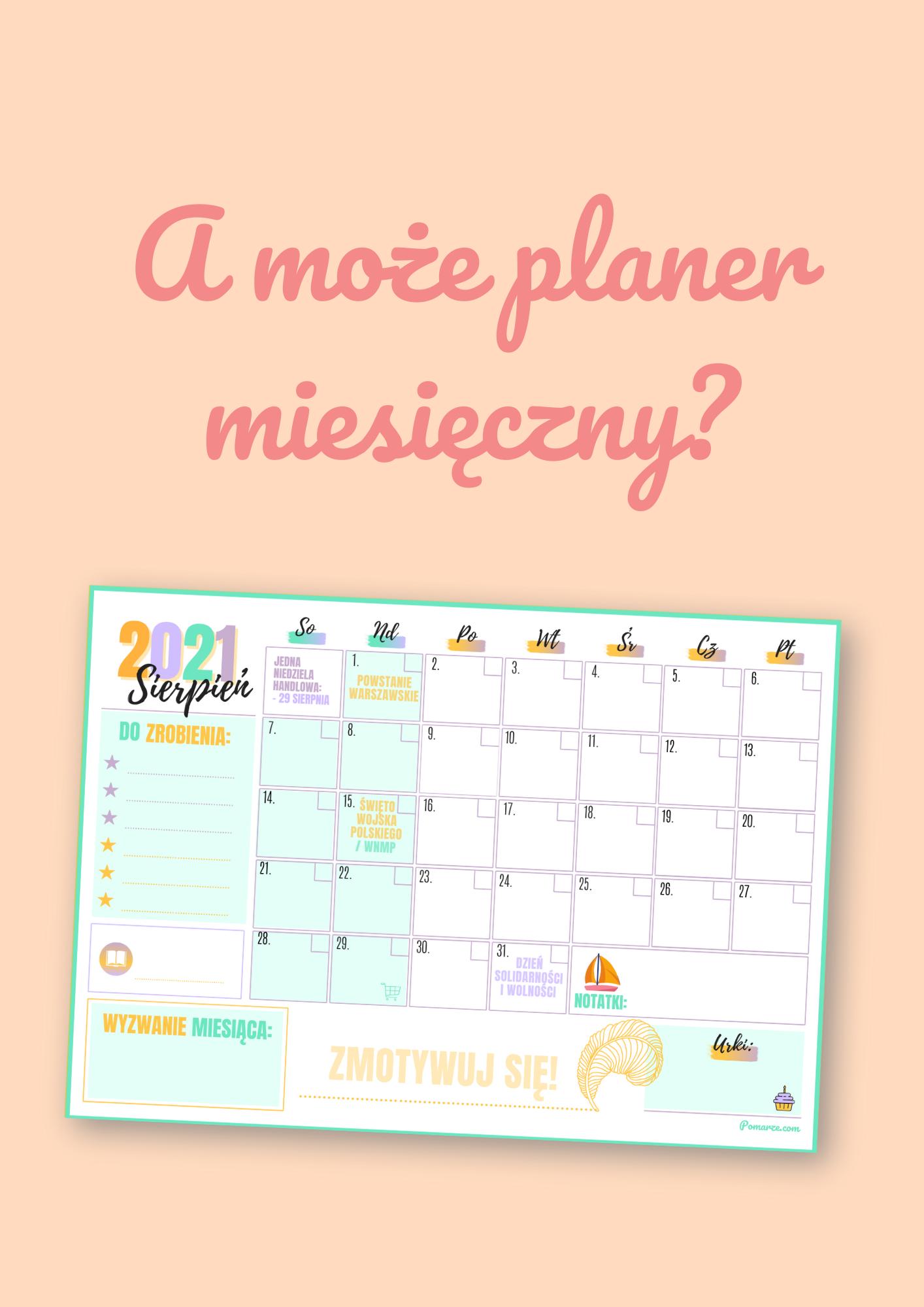 pobierz piękny kalendarz maj 2020 do druku pdf
