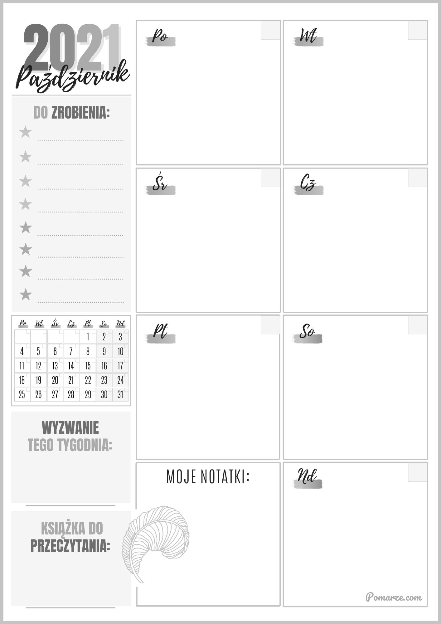 darmowy planer piękny kalendarz maj 2020 druk pdf